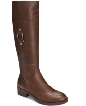 Style & Co. Astarie Wide-Calf Riding Boots, Only at Macy's Women's Shoes