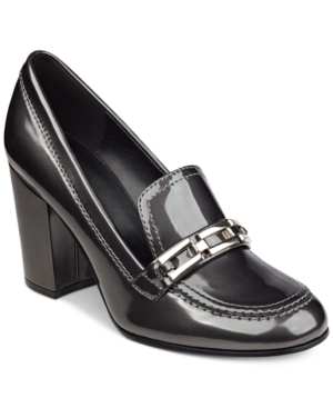 Marc Fisher Barley Tailored Block-Heel Pumps Women's Shoes