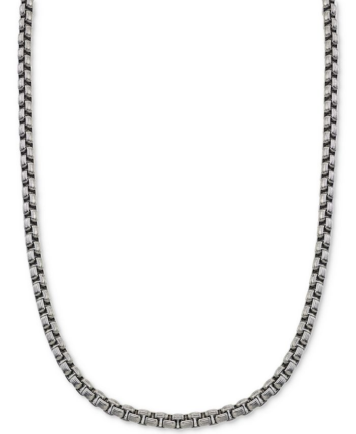 Esquire Men's Jewelry - Large Box-Link Chain in Stainless Steel