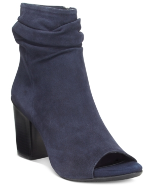 Kenneth Cole Reaction Frida Cool Slouchy Peep Toe Ankle Booties Women's Shoes