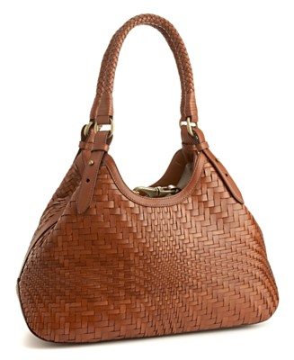 "Cole Haan ""Genevieve"" Small Woven Triangle Tote - Cole Haan - Handbags & Accessories - Macy's from macys.com"