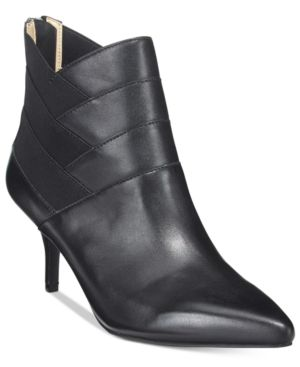 Adrienne Vittadini Sande Pointed-Toe Booties Women's Shoes