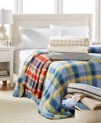 Martha Stewart Collection Soft Fleece King Blanket