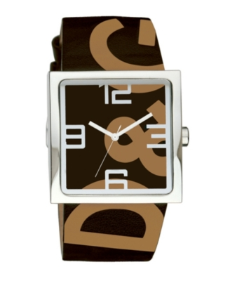 D&G Watch, Men's Andy Brown Leather Strap DW0038