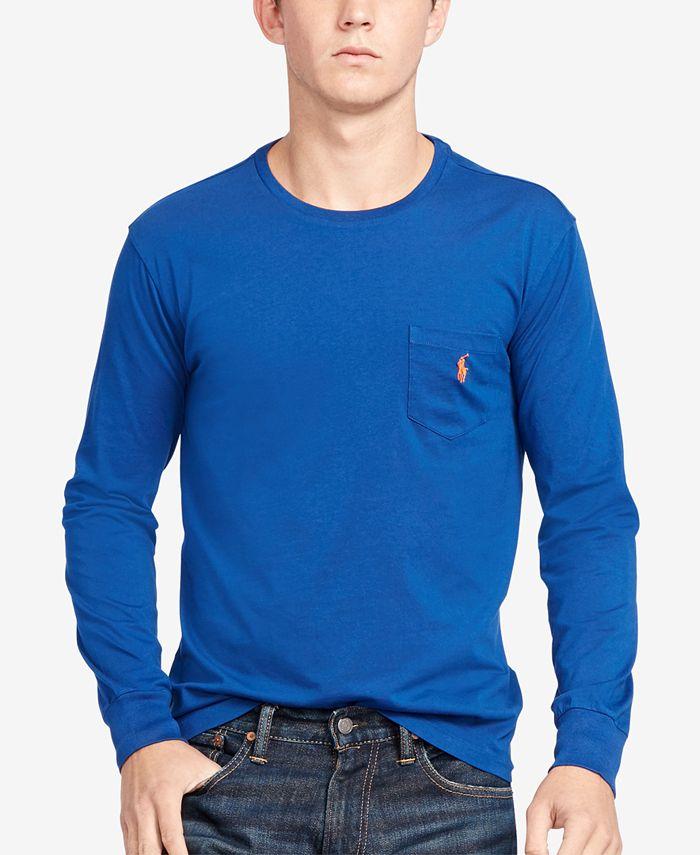 Polo Ralph Lauren Men's Long-Sleeve Pocket Cotton Shirt & Reviews ...