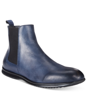 Roberto Cavalli Men's William Leather Chelsea Boots Men's Shoes