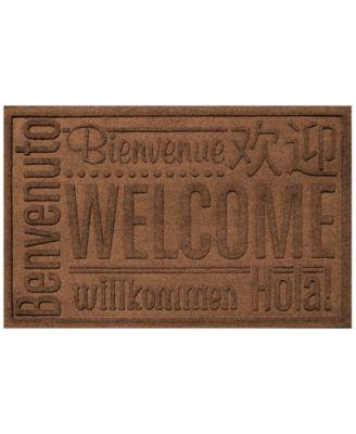 Bungalow Flooring Water Guard Worldwide Welcome Dark Brown 2'x3' Doormat