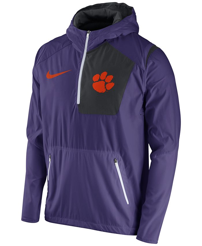 Nike - Men's Clemson Tigers Speed Fly Rush Pullover Hoodie