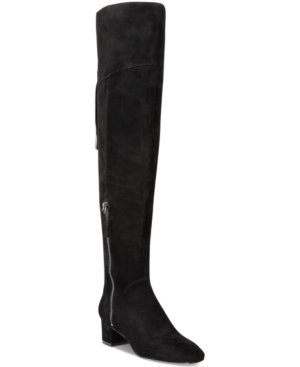 Nine West Anilla Zipper Over-The-Knee Block-Heel Boots Women's Shoes