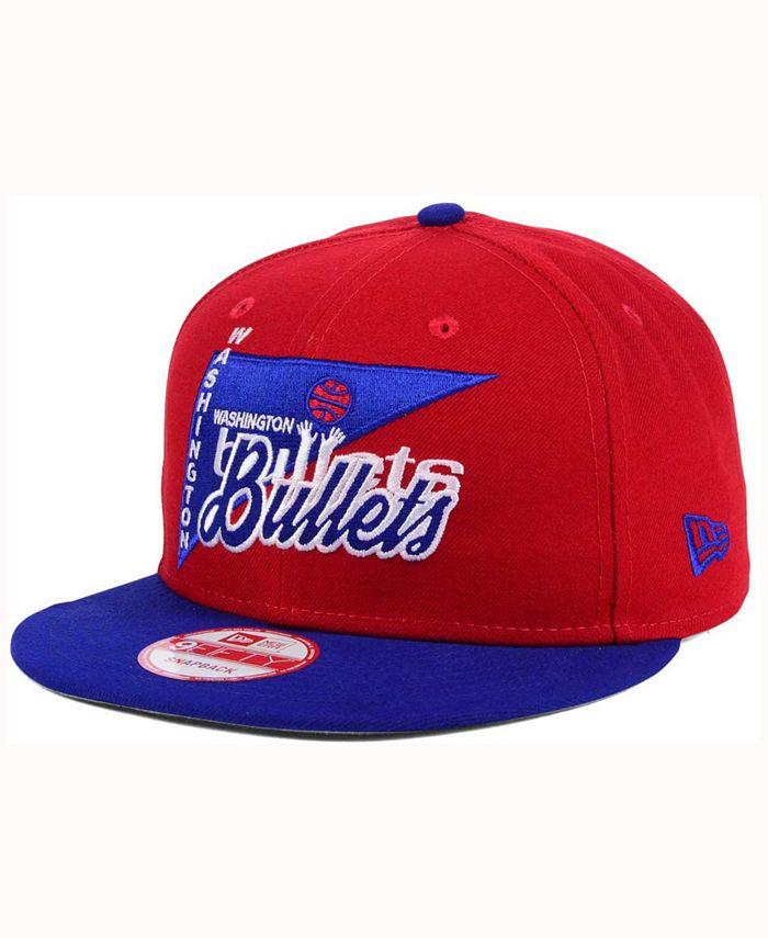 New Era - Washington Bullets HWC Logo Stacker 9FIFTY Snapback Cap