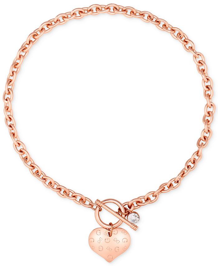 GUESS - Heart Charm Pendant Necklace