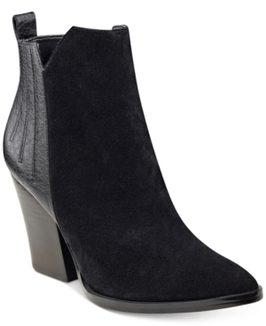 Guess Millie Block-Heel Booties Women's Shoes