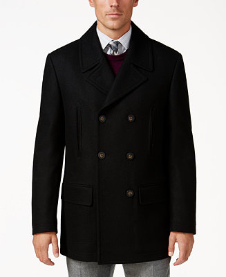 Ralph Lauren Luke Wool-Blend Classic-Fit Peacoat (Was $350, Select Colors Now $139.99)