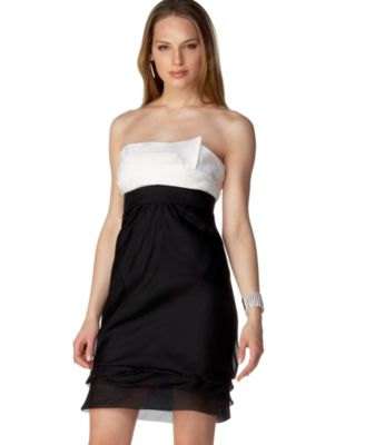 Macy*s - Women's - BCBG Silk Organza Strapless Tiered Dress