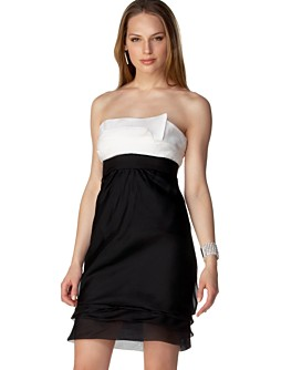 Macy*s - Women's - BCBG Silk Organza Strapless Tiered Dress from macys.com