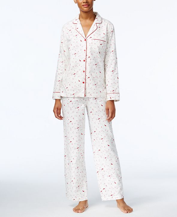Charter Club Holiday Flannel Pajama Set, Created for Macy's