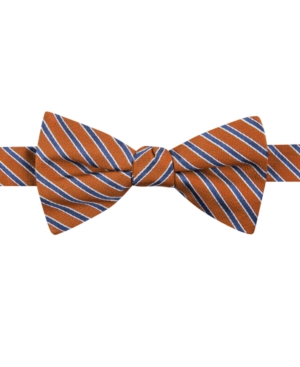 New 1920s Mens Ties & Bow Ties Tommy Hilfiger Mens Small Stripe To-Tie Bow Tie $29.99 AT vintagedancer.com