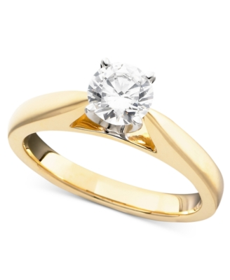 14k Gold Diamond Solitaire Ring (3/4 ct. t.w.)