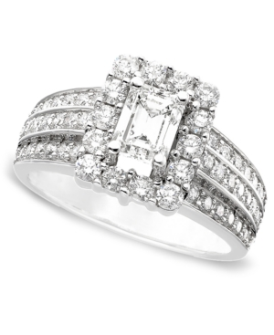 Engagement Ring, Certified Diamond (1-3/4 ct. t.w.) and 14k White Gold