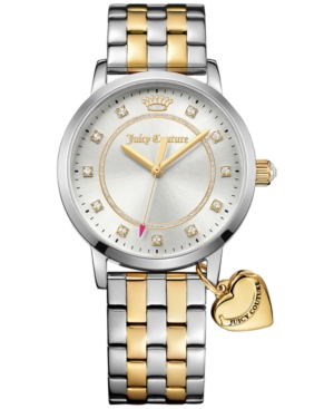 Juicy Couture Women's Socialite Two-Tone Stainless Steel Bracelet Watch with Charm 36mm 1901477