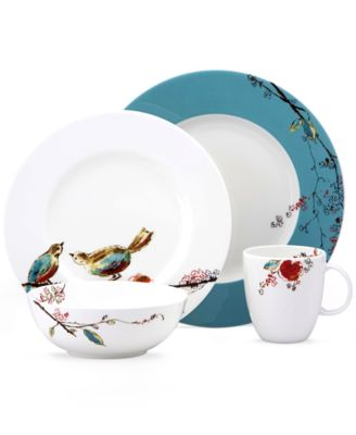 Simply Fine Chirp Round 4-Piece Place Setting