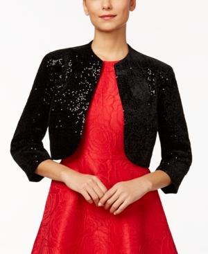 1950s Style Coats and Jackets Tahari Asl Sequin Bolero $86.99 AT vintagedancer.com