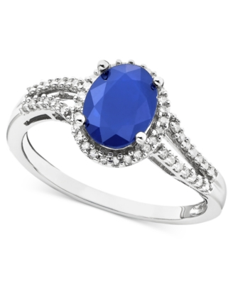 14k White Gold Oval-Cut Sapphire Ring (1-1/2 ct. t.w.)