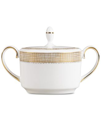 Vera Wang Wedgwood Gilded Weave Gold Covered Sugar Bowl, Imperial