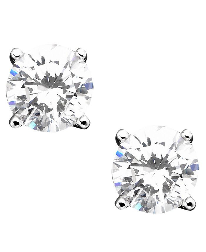 Giani Bernini - Cubic Zirconia Sterling Silver Stud Earrings
