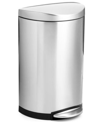 simplehuman Deluxe Semi-Round Step Trash Can, 40-Liter