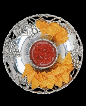 "Arthur Court ""Grape"" Chip & Dip Plate, 14"""
