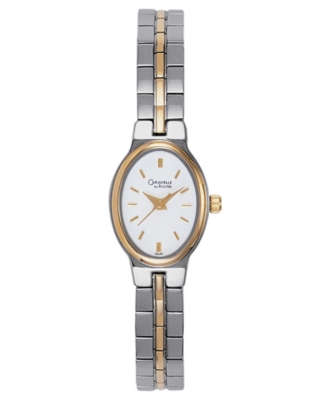 Caravelle by Bulova Watch, Women's Two Tone Bracelet 45L43