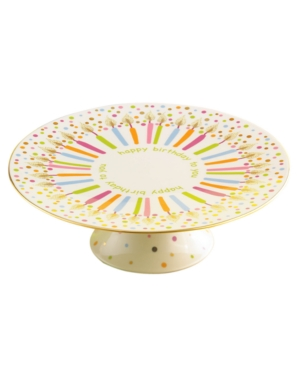 """Lenox """"Candles and Confetti"""" Singing Cake Plate"""