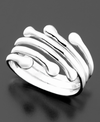 Sterling Silver Wave Band - Decorative Rings
