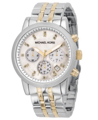MICHAEL Michael Kors Watch, Women's Two-Tone Bracelet MK5057