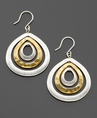 Kenneth Cole New York Mixed Metal Earrings