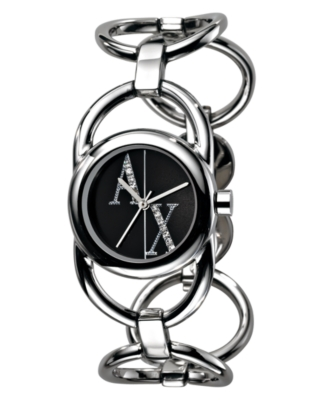 AX Armani Exchange Watch, Women's Stainless Steel Bracelet AX4003