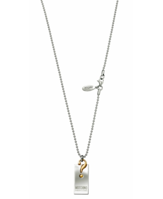 Moschino Cheap and Chic Dog Tag Necklace