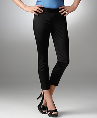 BCBGeneration Ankle-Zip Skinny Cropped Pants - Pants - Women's - Macy's