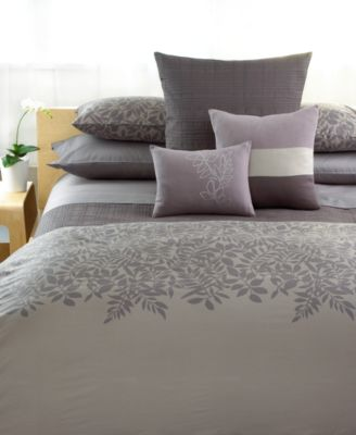 CLOSEOUT! Calvin Klein Bedding, Madeira Jagged Grid King Coverlet
