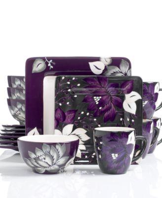 ... Laurie Gates Dinnerware Lizette Floral 16 Piece Set ...  sc 1 st  Coupons \u0026 Deals Blog - DealRocker & Luxurious Dinnerware Sets ~ Setting the Holiday Mood!   Coupons ...
