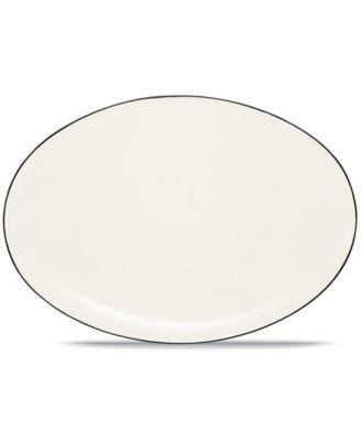 "Noritake ""Colorwave Graphite"" Oval Platter, 16"""