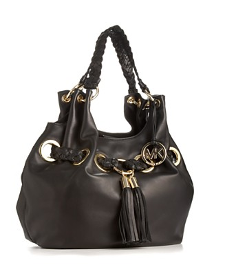 "MICHAEL Michael Kors ""Braided Grommet"" Large Shoulder Tote - Shoulder Bags - Handbags & Accessories  - Macy's from macys.com"