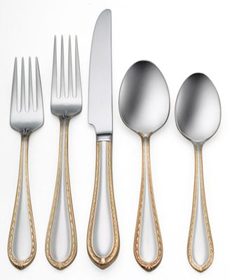 Waterford Quot Powerscourt Gold Quot Stainless Flatware Collection