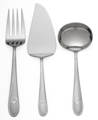 Waterford Ballet Ribbon Matte 3-Piece Serving Set