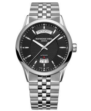 RAYMOND WEIL Watch, Men's Stainless Steel Bracelet 2720-ST-20001