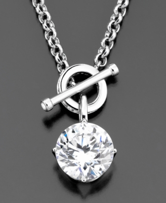 CRISLU Sterling Silver Cubic Zirconia Necklace (6-3/8 ct. t.w.)