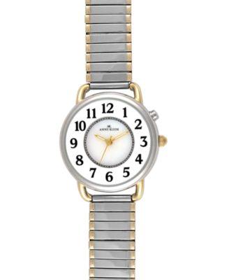 AK Anne Klein Women's Two-Tone Mixed Metal Bracelet Watch