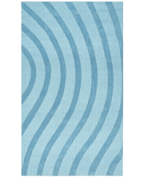 St. Croix Trading Company Area Rug, Oasis CLT01 Blue Waves 8' x 10'