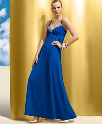INC International Concepts® Studded Jersey Maxi Dress - Dresses - Women's  - Macy's :  blue gown dress maxi